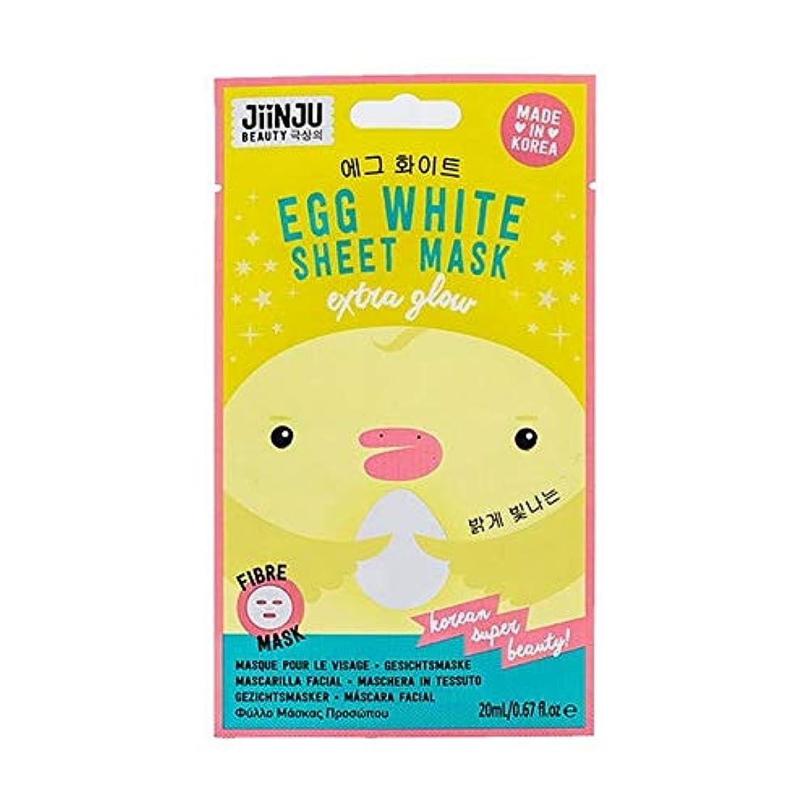 大型トラックミリメートル霧[Jinju] Jiinju卵白シートマスク22ミリリットル - Jiinju Egg White Sheet Mask 22ml [並行輸入品]