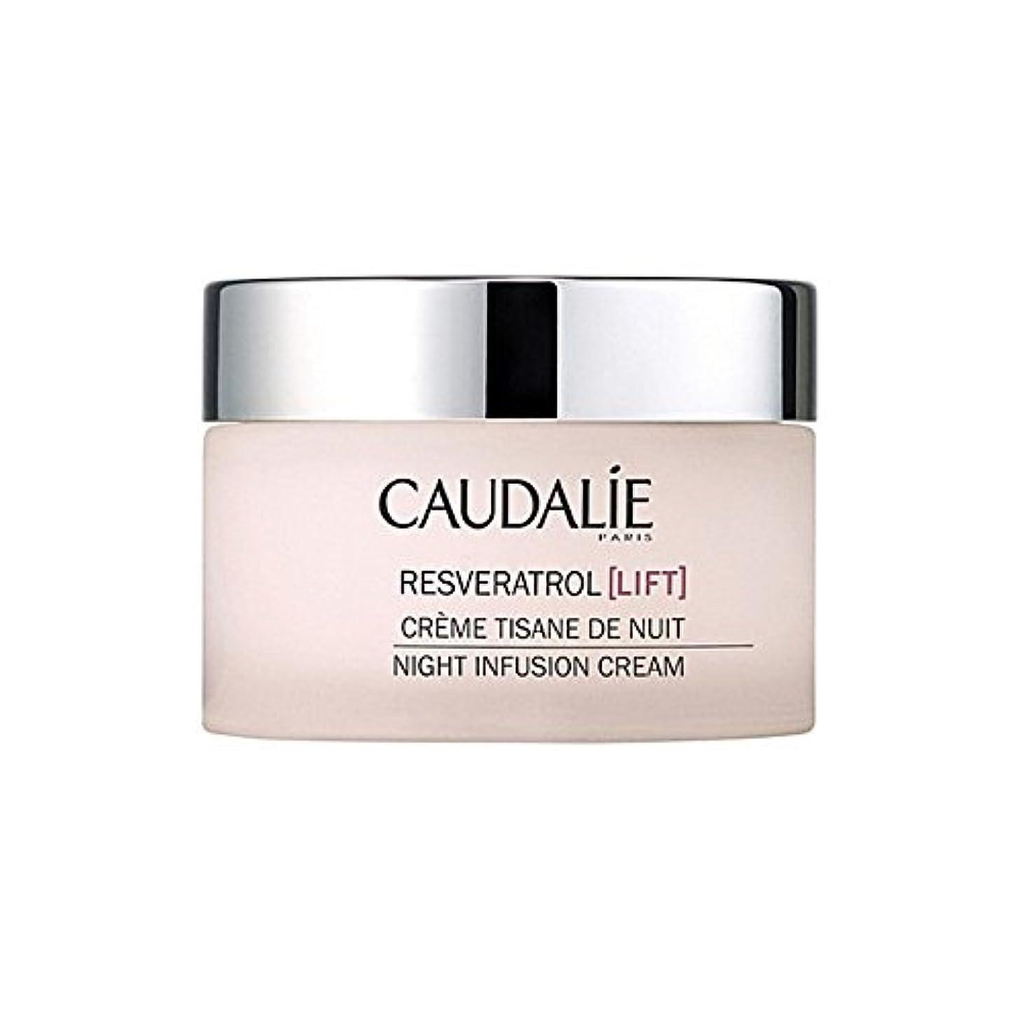 ダルセット田舎声を出してCaudalie Resveratrol Lift Night Infusion Cream 50Ml (Pack of 6) - コーダリーレスベラトロールリフト夜の注入クリーム50 x6 [並行輸入品]