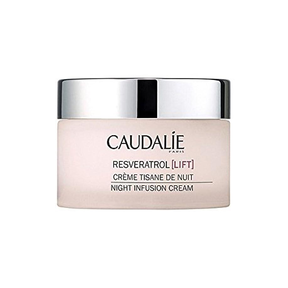 不機嫌そうな熟読どういたしましてCaudalie Resveratrol Lift Night Infusion Cream 50Ml (Pack of 6) - コーダリーレスベラトロールリフト夜の注入クリーム50 x6 [並行輸入品]