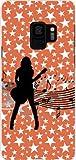 ガラスフィルム 付 ギャラクシー エスナイン SC-02K SCV38 GALAXY S9 docomo au TPU ソフトケース ギターガール スマホケース スマホカ..