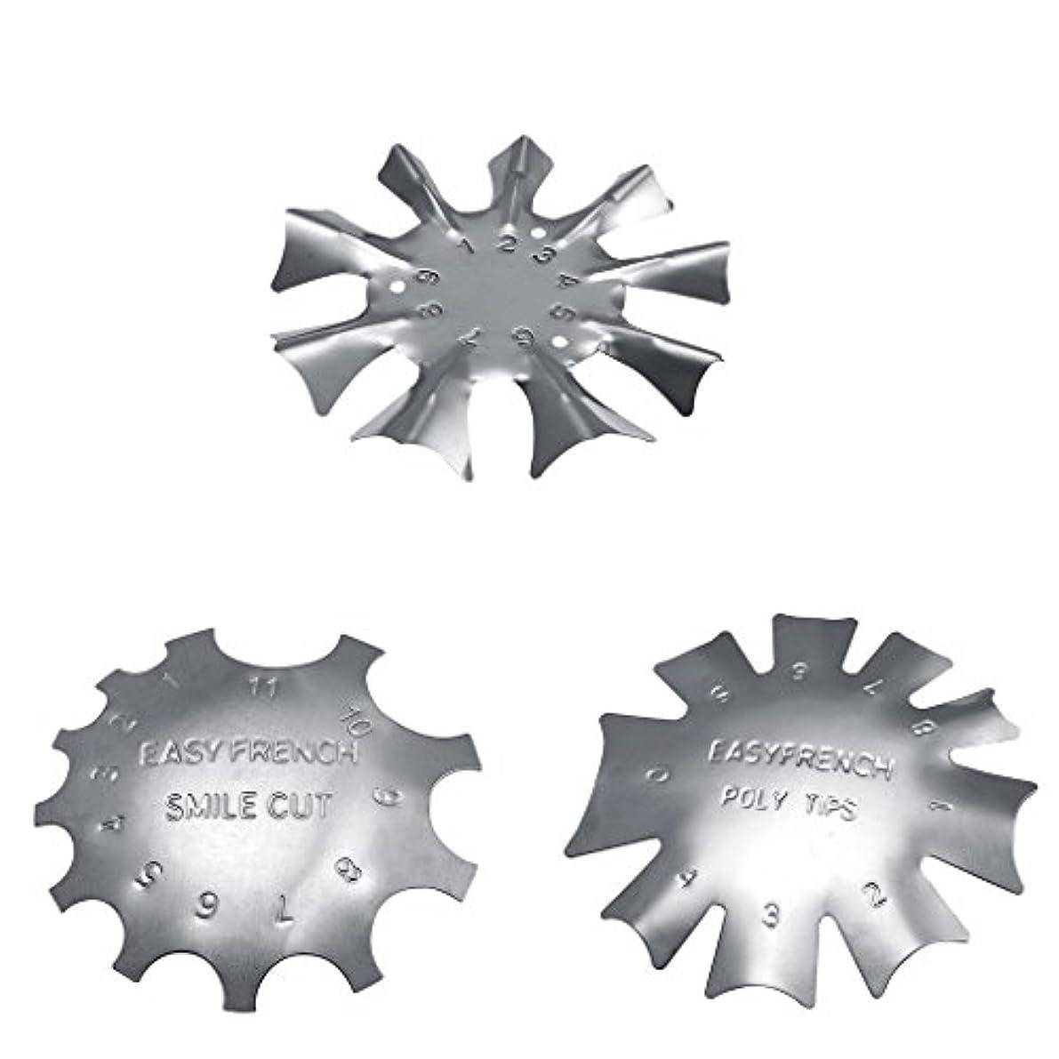 分離半球カップToygogo 3スタイル簡単フレンチスマイルカットラインエッジトリマーマニキュアネイルアートステンシルテンプレートツール耐久性のあるステンレス鋼