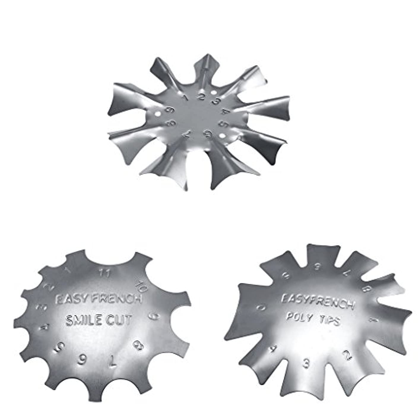 略奪おとうさん上院議員Toygogo 3スタイル簡単フレンチスマイルカットラインエッジトリマーマニキュアネイルアートステンシルテンプレートツール耐久性のあるステンレス鋼