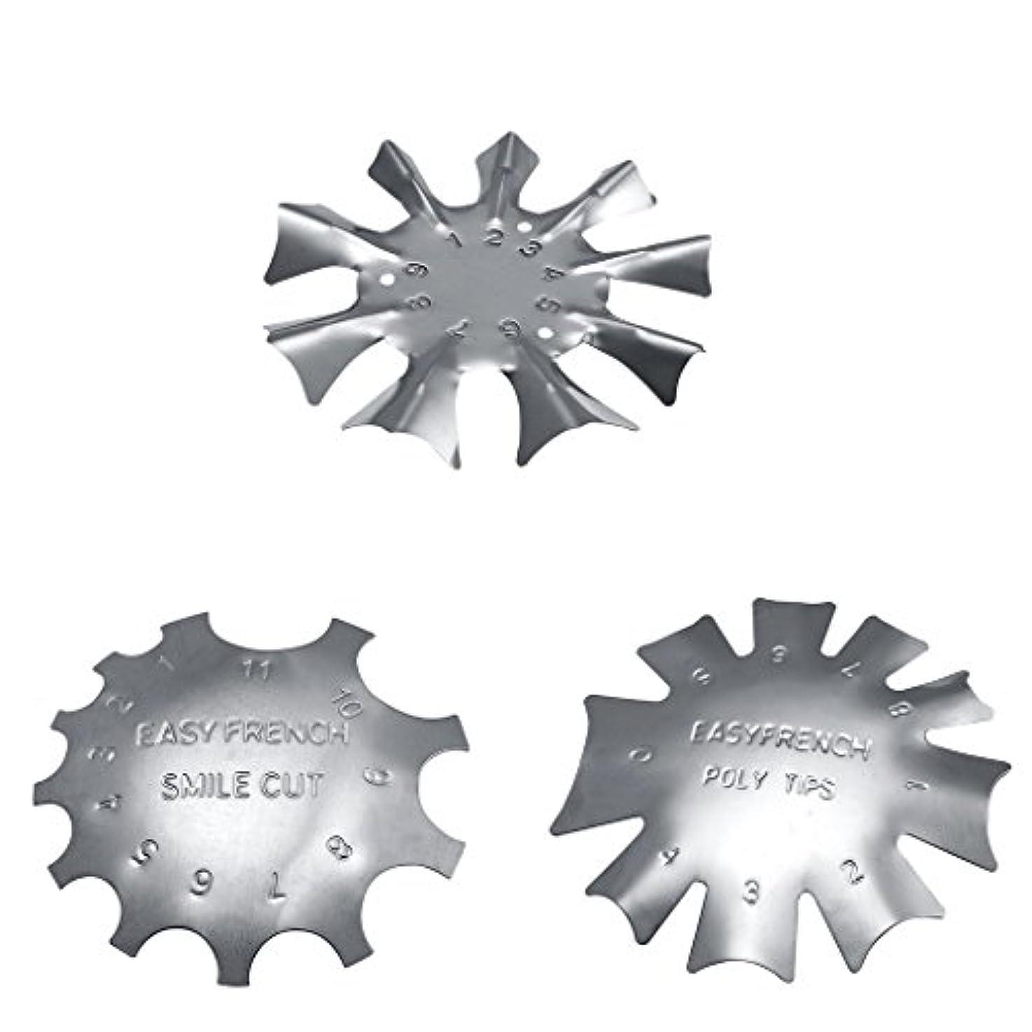 ネックレスシェードカカドゥToygogo 3スタイル簡単フレンチスマイルカットラインエッジトリマーマニキュアネイルアートステンシルテンプレートツール耐久性のあるステンレス鋼