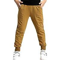 BINPAW Boy's Cotton Fleece Sweatpants, Age 4T-11T (4-11 Years)