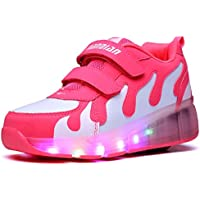 Nsasy Big Girls' Rubber Sole Roller Skate Shoes