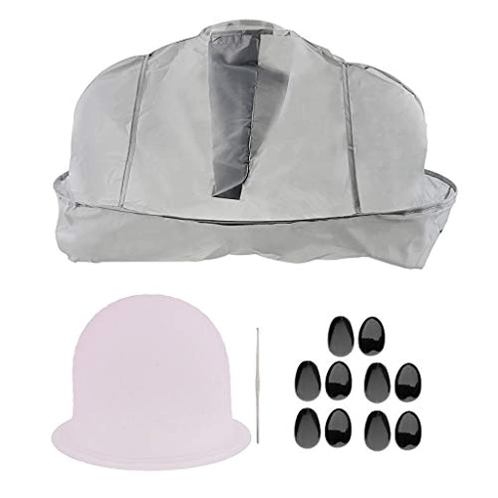 計器症候群振動させるT TOOYFUL サロンの理髪師の髪の色付けのツールセット帽子ティッピングキャップ耳のカバー