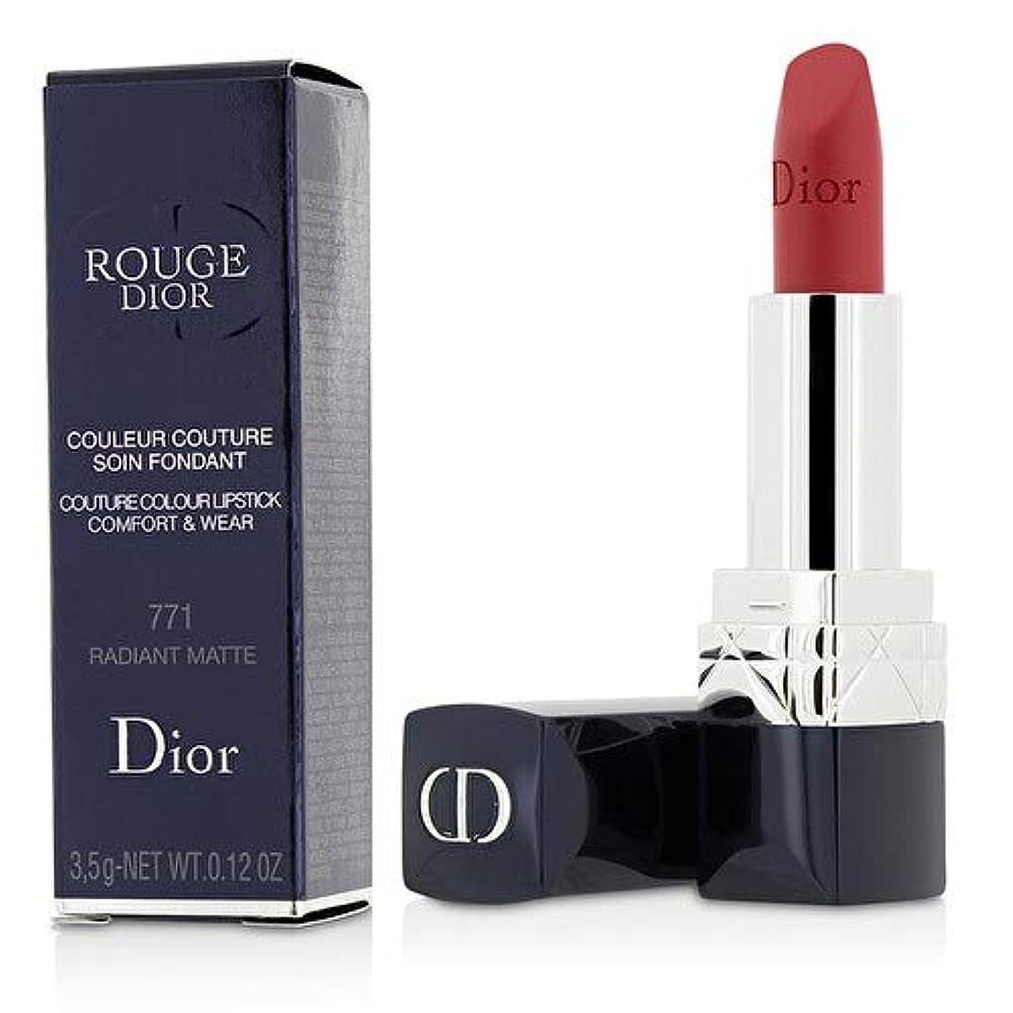 パッチ侮辱一元化するクリスチャンディオール Rouge Dior Couture Colour Comfort & Wear Matte Lipstick - # 771 Radiant Matte 3.5g/0.12oz並行輸入品