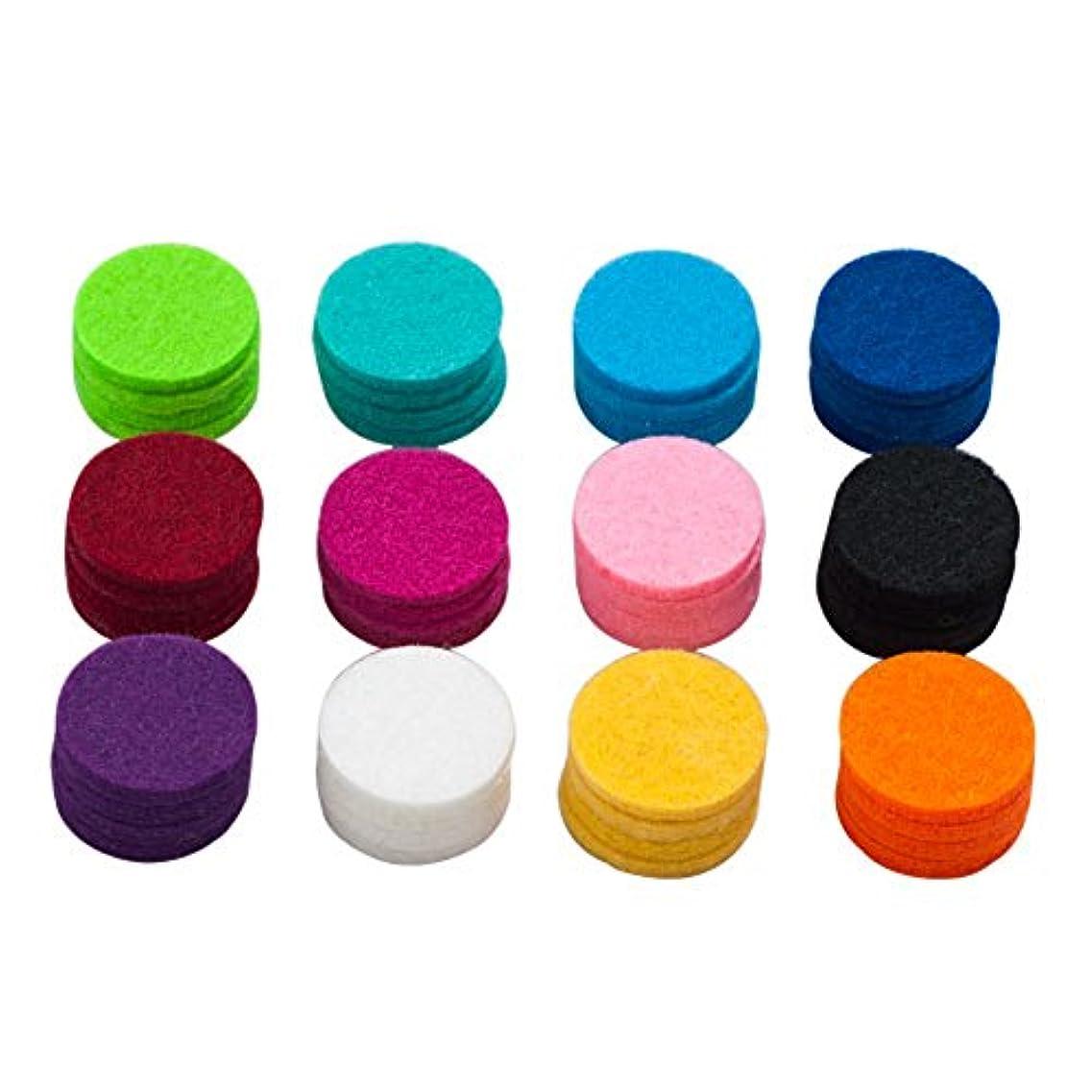 ルーキー混乱した装置lovelycharms Aromatherapy Essential Oil DiffuserネックレスRefill Pads for 30 mmロケットネックレス