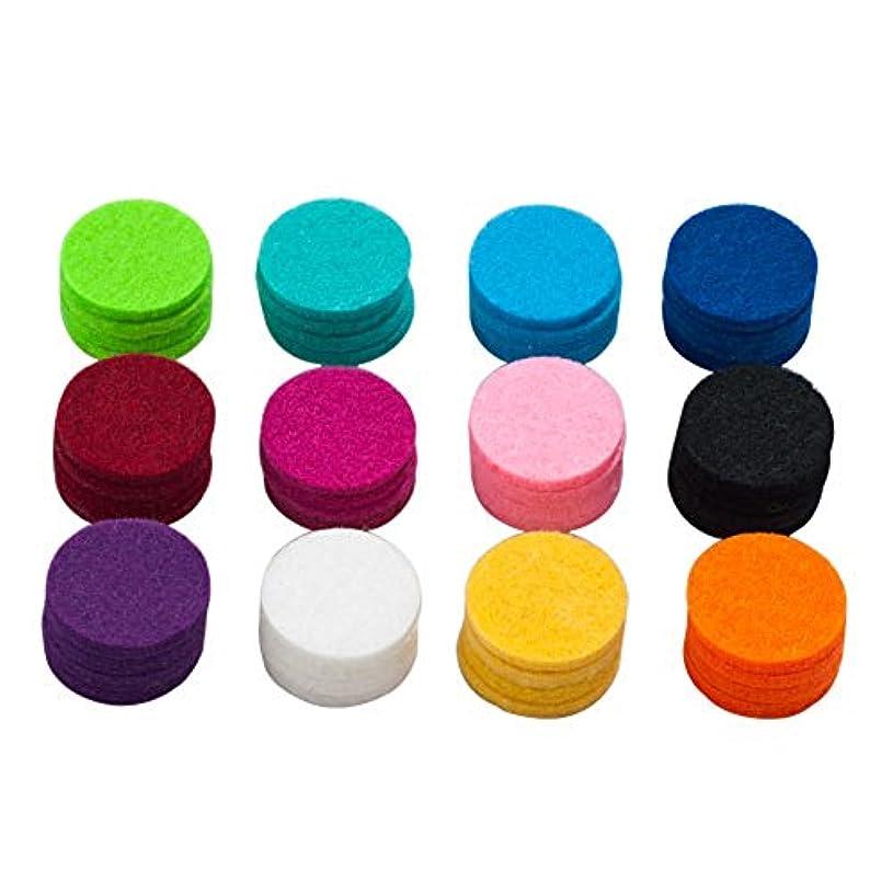 カプセル実現可能性マークされたlovelycharms Aromatherapy Essential Oil DiffuserネックレスRefill Pads for 30 mmロケットネックレス