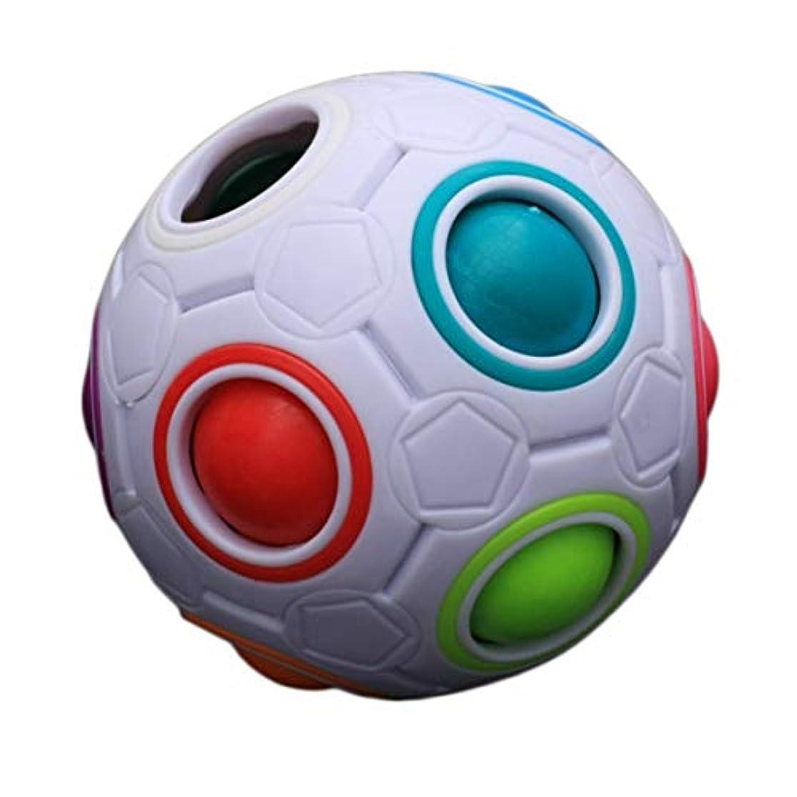 排除接続詞着飾るTivollyff ユニークな子供子供球形レインボーボールサッカーマジック玩具カラフルな学習教育パズルブロックおもちゃギフト用赤ちゃん