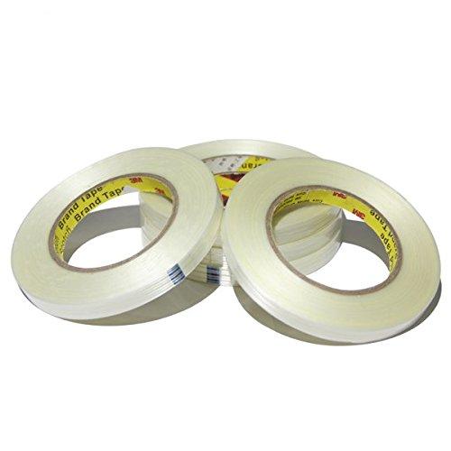 3M8915 ストライプ 透明 ファイバー テープ 55m(L)x2cm(W)x0.15mm(T) 並行輸入品