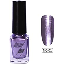 (A) - Yuan Mirror Nail Polish,Metallic Mirror Effect Stainless Steel Solid colour No sequins (A)