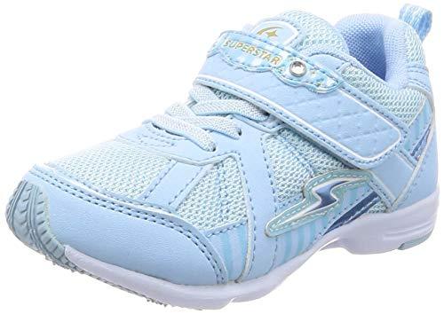[スーパースター] 運動靴 マジック 軽量 15-19cm(0.5cm有) 2E キッズ 女の子 SS K893 サックス 18.5 cm