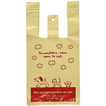 037ad877314 Amazon.co.jp: 手提げ袋 レジ袋 スキップキッズ 犬 ネコ 動物-S (100枚 ...