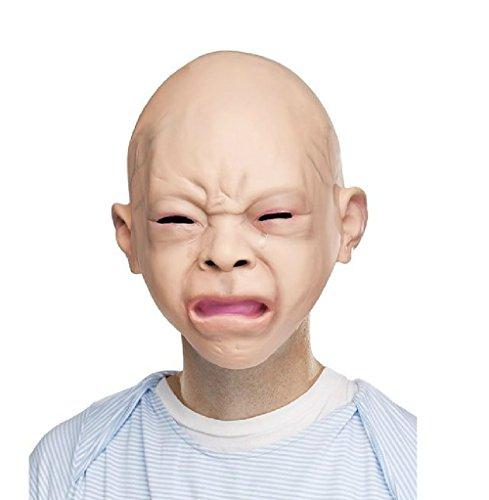 H&Q リアル マスク 赤ちゃん ベビーマスク コスプレ 大人の赤ちゃん (泣き顔)