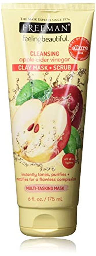 サークルカトリック教徒知らせるFeeling Beautiful Clay Mask Scrub Cleansing Apple Cider Vinegar