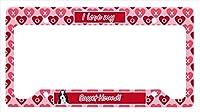Carolines Treasures LH9149LPF 12 x 6 in. Basset Hound Valentines Love and Hearts License Plate Frame