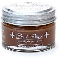 COLUMBUS ブートブラック シュークリーム(ツヤ革靴専用 ビン入り乳化性クリーム) 17445 ミディアムブラウン