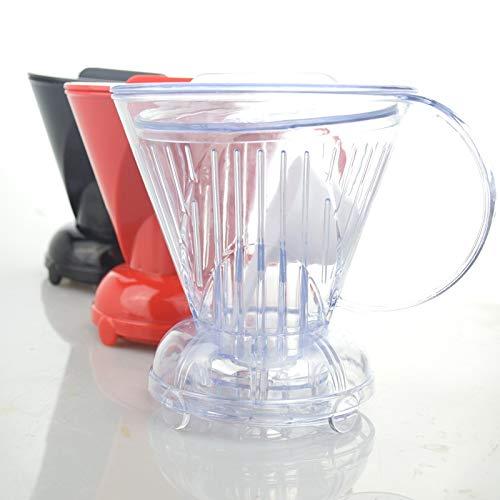 Edify Ltd ペーパーフィルター ドリッパー ホットウォーター コーヒー ブリューワー クレバー プラスチック 再利用可能 フィルター ブラック