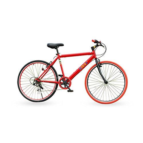 Airbike クロスバイク 自転車 26インチタイヤ シマノ7段変速 (レッド×ブラック)