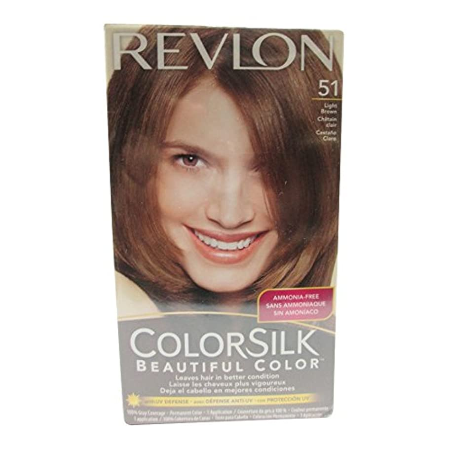 夫切る写真を撮るカラーシルクヘアカラー #51 ライトブラウン 5N (並行輸入品)