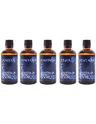Mystix London | Gift Starter Pack of 5 x 100ml - Mental Wellbeing - Essential Oil Blends
