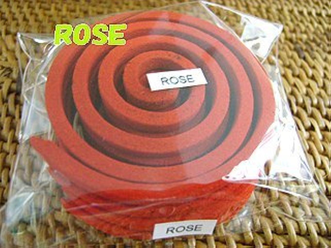 全体に広告主続けるTHAI INCENSE タイのうずまき香COILS INCENSE 【ROSE ローズ】
