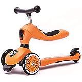 スクーター子供のツーインワン子供三輪車調節可能な子供の誕生日プレゼント ( Color : Orange )