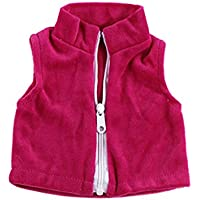 Lovoski 衣類 アクセサリー 18インチアメリカンガール人形用 衣類 ジッパー付き ウエストコート ドールアクセサリー