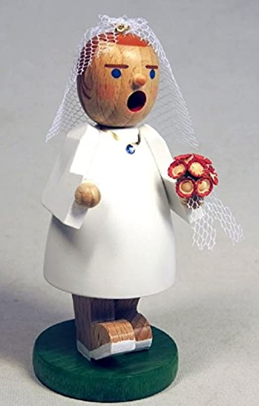 物語悲惨解き明かすRichard Glaesser GmbHウェディング花嫁花とベールGerman木製クリスマスIncense Smoker