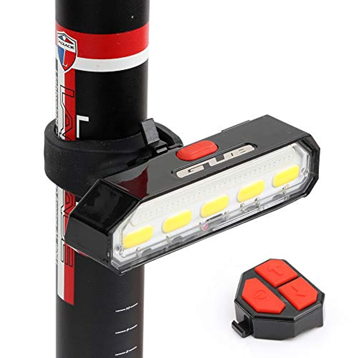 読み書きのできない少ない巧みなGUB M-61 Bicycle Light USB Rechargeable Tail Light LED Warning Rear Lights Cycling Smart Wireless Remote Control Turn Signal