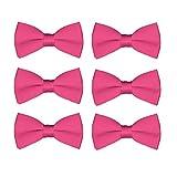 メンズ蝶ネクタイ卸売6パックウェディングTies pre-tiedフォーマルタキシードBowties カラー: ピンク