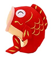 『和ぐるみ 大笑い鯉 赤』端午の節句飾り・鯉のぼり