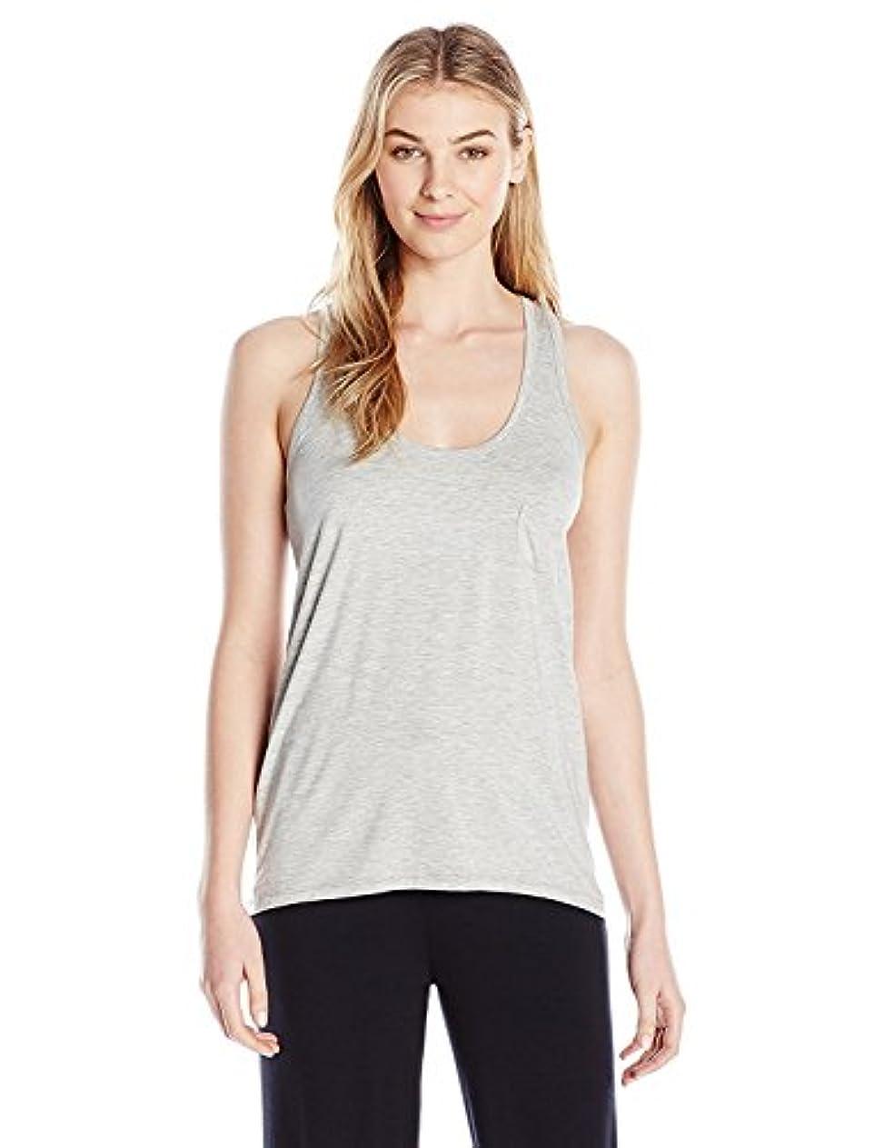 広く良心鼻Daniel Buchler Women's Rayon Blend Tank Top Grey Heather X-Large [並行輸入品]