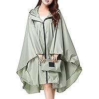 NoyoKere Womens Hooded Zip Up Waterproof Active Outdoor Rain Jacket Raincoats Lightweight Poncho