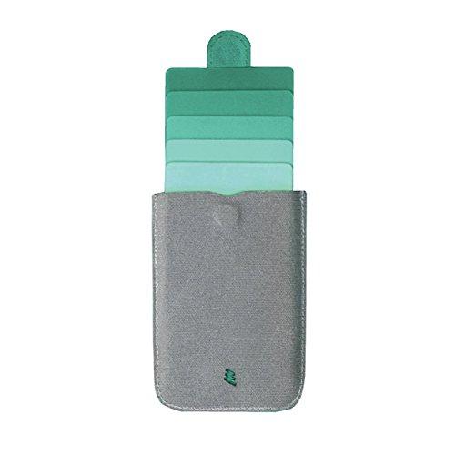 【国内正規品】DAX wallet  スリムタイプのカードケース  マグネットでワンタッチロック スナップロック スライド式 カードホルダー 最大5枚収納 撥水性ファブリック (グリーン)