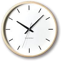 KATOMOKU plywood wall clock ナチュラル 電波時計 連続秒針 km-49NRC φ304mm