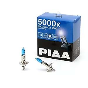 PIAA (ピア) ハロゲンバルブ 【ストラトスブルー 5000K】 車検対応 1年間保証 H1 12V55W 2個入り HZ305
