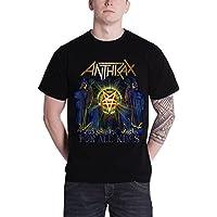 Anthrax アンスラックス All Kings Cover band logo オールキングス・カバー・バンド・ロゴ 公式 メンズ ブラック 黒 Tシャツ