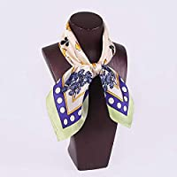 QingYun Trade レディーシルクシルクスカーフシルクショール小さな正方形シルクスカーフ友達に送るユニークな気質を完璧に表現しています (Color : オレンジ, サイズ : M)