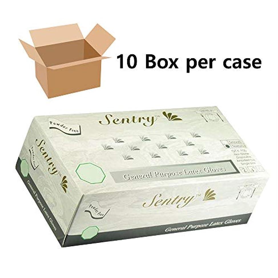 100個/箱 ラテックス手袋 使い捨て パウダーフリー 工業試験 汎用(1,000ミディアム)