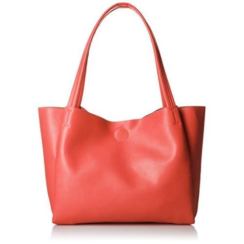 [クーコ] フェイクレザーシンプルトートバッグ A4サイズ収納 1713111147 21 ピンク