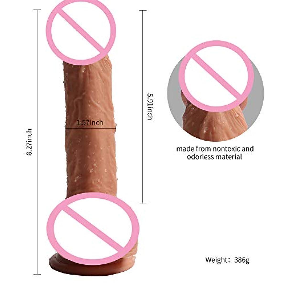 精神医学スカリーバックアップ8.27インチの女性の吸引のコップが付いている喜びのマッサージャーの棒