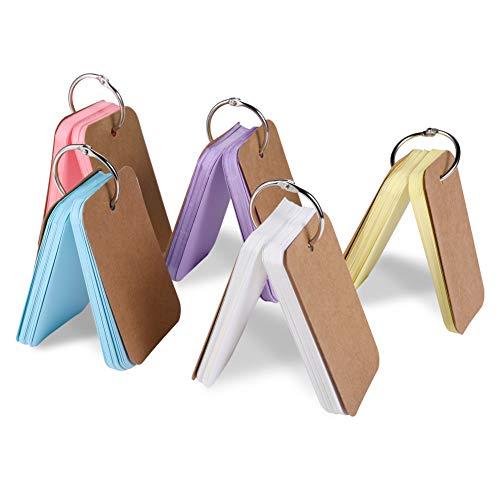 単語帳 単語カード 暗記カード DIY挨拶カード 暗記効率アップ メモ帳 50枚×5冊