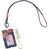 Wonderful Flower Id Case and Lanyard (Navy Coral)