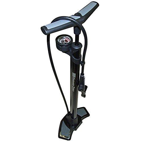 ガレージ・ゼロ(Garage Zero) 自転車空気入れ フロアポンプ/鉄製・クレバー搭載・上部ゲージタイプ[仏式・米式・英式バルブ対応/最大圧力160psi(11bar)] GZMT15