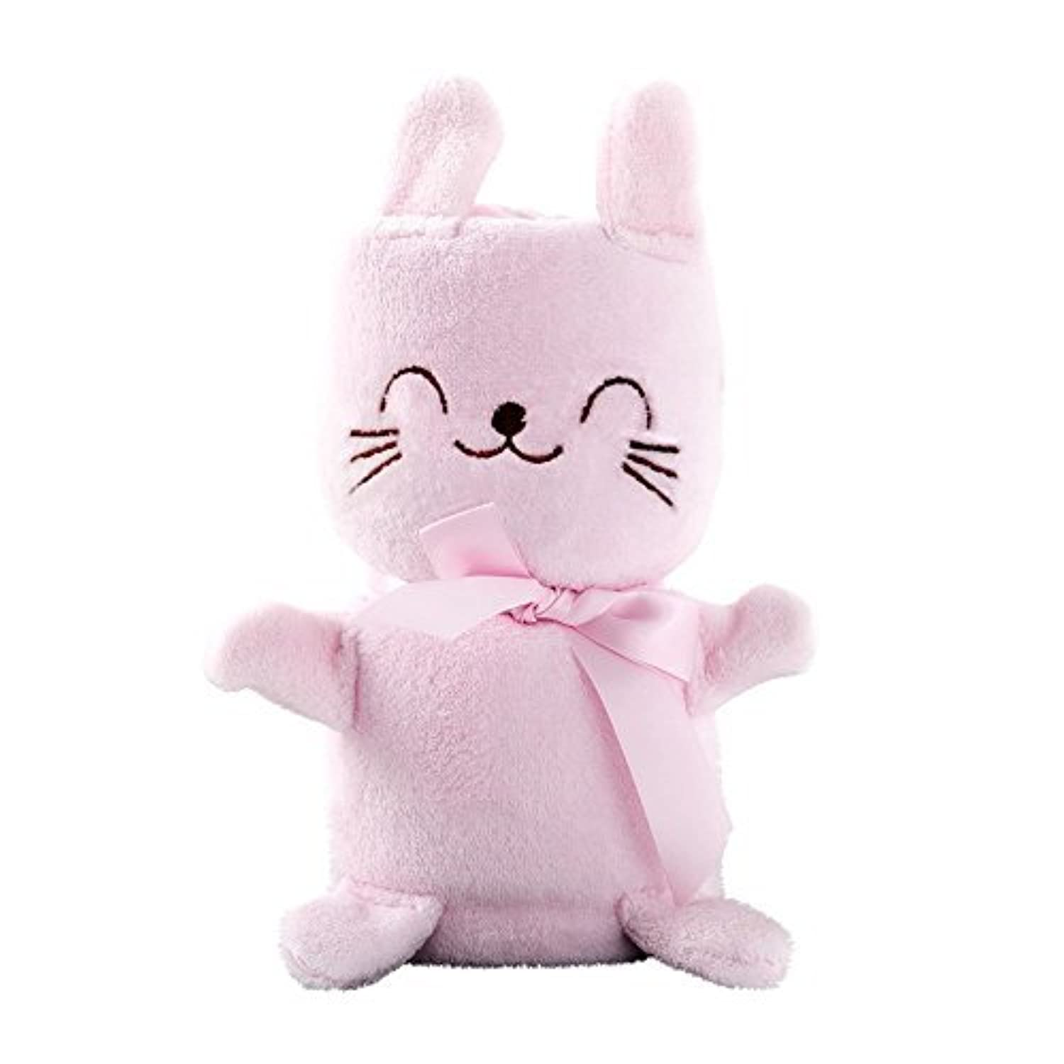 BABYSINGUS Baby Receiving Blanket, Coral Fleece Animals Model Swaddles, Pink [並行輸入品]