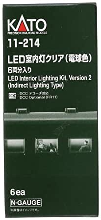 Nゲージ 11-214 LED室内灯クリア (電球色) 6両分入