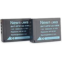 Newmowa NP-W126 互換 バッテリー 2個 対応機種 Fujifilm NP-W126 Fujifilm X-H1 Fujifilm FinePix X-Pro1 X-Pro2 HS30EXR HS33EXR HS35EXR HS50EXR X-A1 X-A2 X-E1 X-E2 X-M1 X-T1 X-T2 X-T10