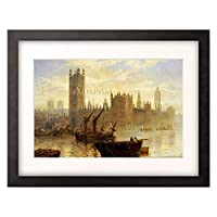 Moore, Claude T. Stanfield 「Westminster from the Thames.」 額装アート作品